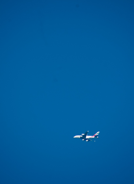 Plane, High and Right.