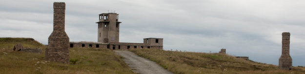 the signal station at the entrance to scapa flow, flotta