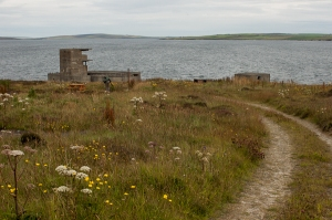 buchanan battery, looking east towards south ronaldsay