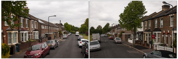 looking north; looking south - elmfield road, E17