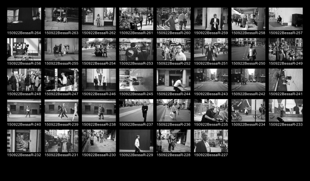 11th September 2015 - Virtual Contact Sheet; Street, Black and White