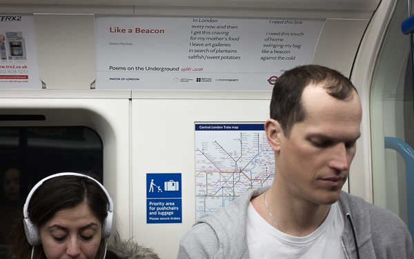 poems on the underground - after evans