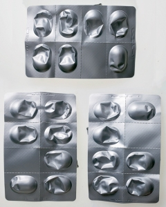 emptied pill packaging - composite