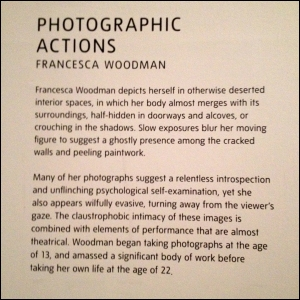 Room Note The Photograph as Performance; Tate Modern (18th Feb - 12th June 2016)
