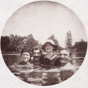 Nell, Marks, Carie, Abe - Lake Conesus, 1893